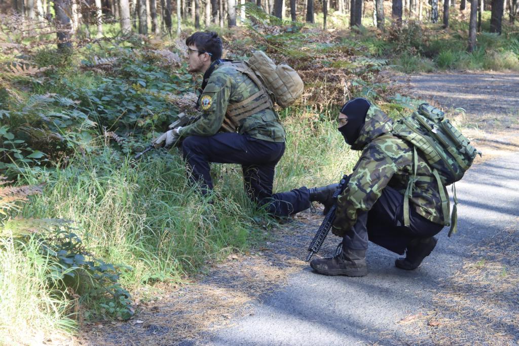 Bojová akce v lese